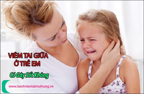Những biểu hiện của trẻ bị viêm tai giữa thường gặp